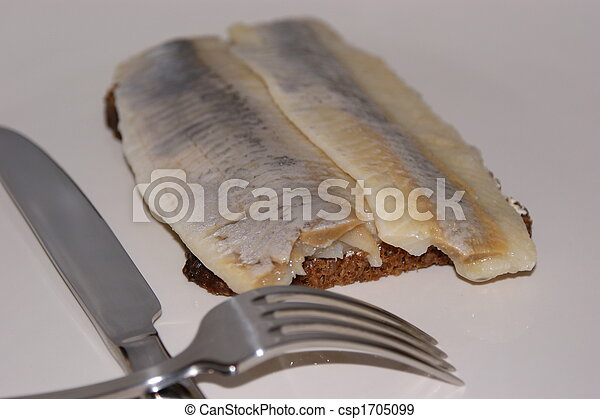 matie, a young herring on a slice bread - csp1705099