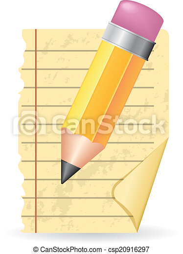 matita, carta - csp20916297