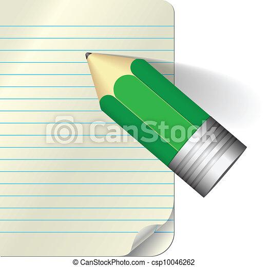 matita, carta - csp10046262