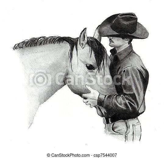 Matita cavallo disegno cowboy matita testa cowboy for Disegni di cavalli a matita