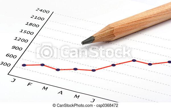 matita, positivo, grafico, guadagno - csp0368472