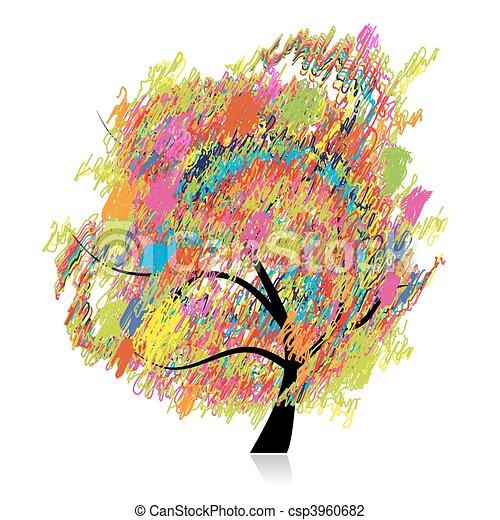 Matita Schizzo Arte Colorito Albero Disegno