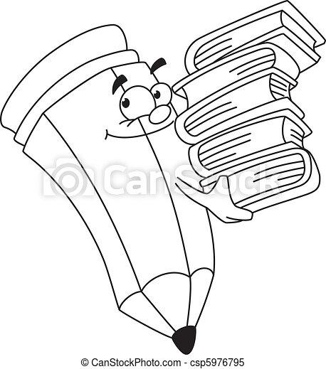 matita, teorico, delineato - csp5976795