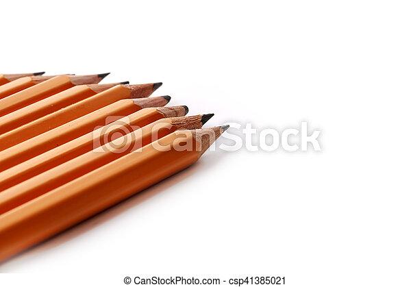 matite, ardesia, isolato, sfondo nero, bianco - csp41385021