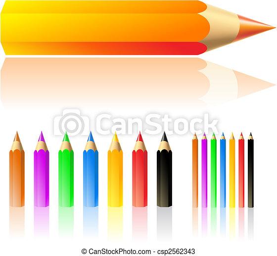 matite, colore - csp2562343