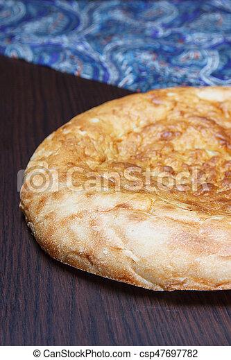 Matnakash - leavened traditional Armenian bread - csp47697782