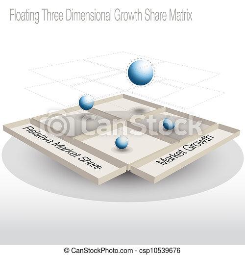 matrice, part, diagramme, croissance, flotter, 3d - csp10539676