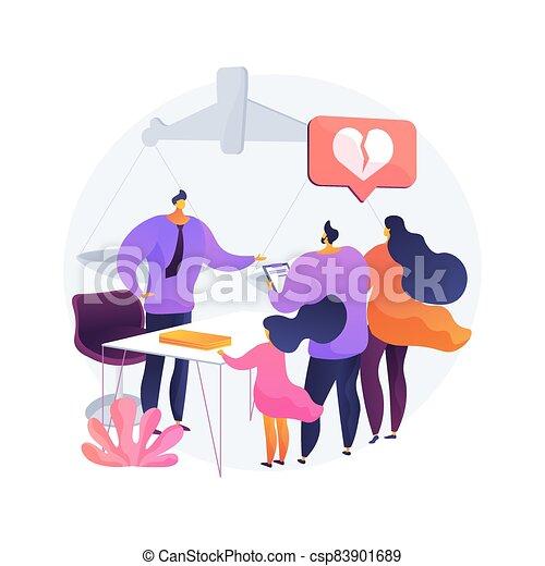 matrimonial, ley, illustration., concepto, resumen, vector - csp83901689