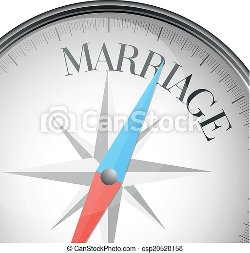 Matrimonio de brújula - csp20528158