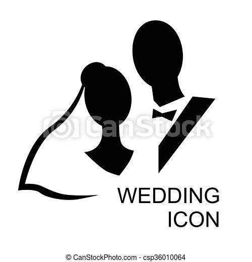 Matrimonio icona sposo nero e bianco stilizzato for Disegni sposi stilizzati