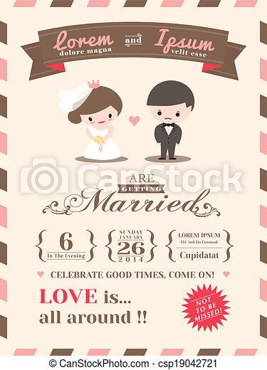 matrimonio, scheda, sagoma, invito - csp19042721