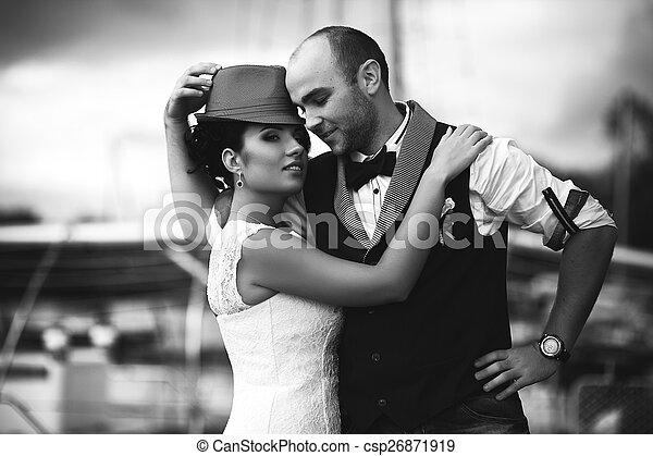 matrimonio, stile, tenerezza - csp26871919