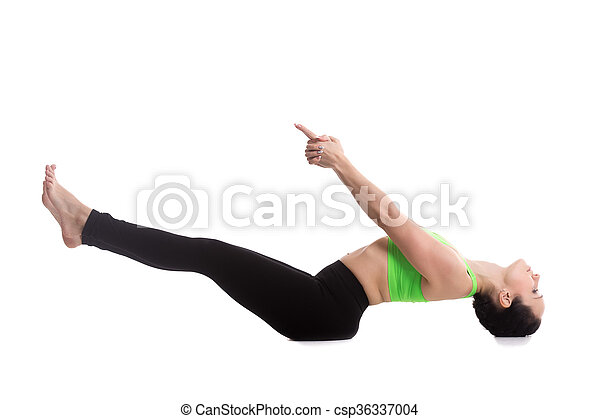 matsyasana yoga pose beautiful sporty girl having yoga