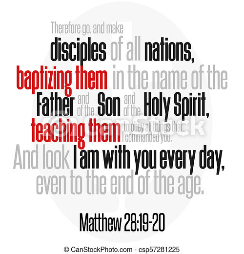 Matthew Wiersz Biblia 2819 20 Wszystko Syn Commanded