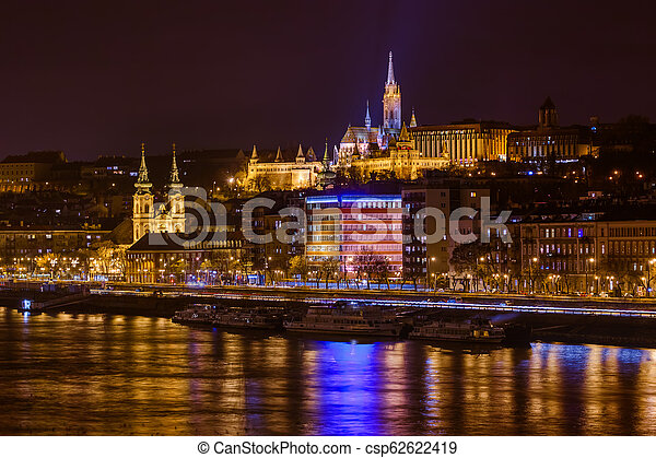 Matthias Church and Fisherman Bastion in Budapest Hungary - csp62622419
