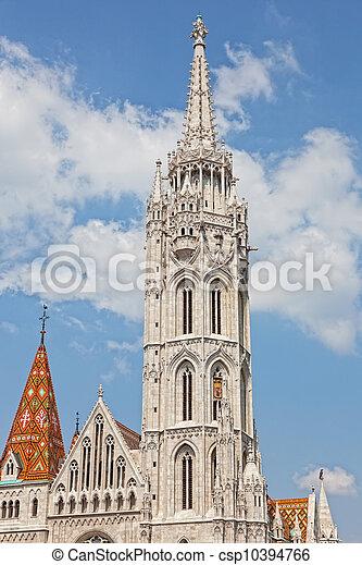 Matthias Church at Buda Castle in Budapest, Hungary - csp10394766