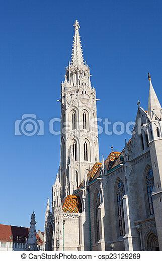 Matthias Church at Buda Castle in Budapest, Hungary - csp23129269