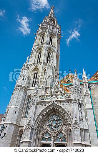 Matthias Church at Buda Castle in Budapest, Hungary - csp21740028