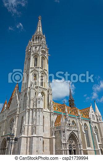 Matthias Church at Buda Castle in Budapest, Hungary - csp21739994