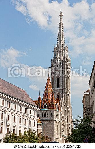 Matthias Church at Buda Castle in Budapest, Hungary - csp10394732