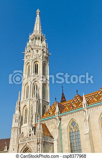 Matthias Church, Budapest, Hungary - csp8377968
