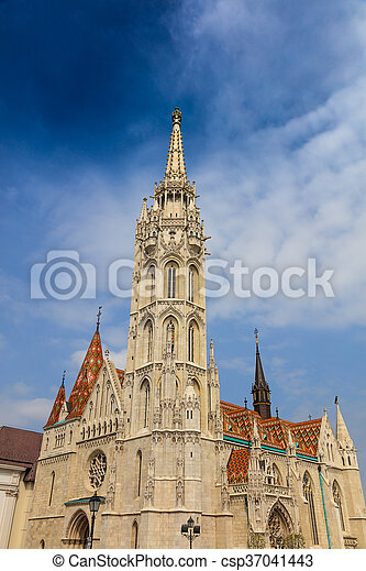 Matthias Church, Budapest Hungary. - csp37041443