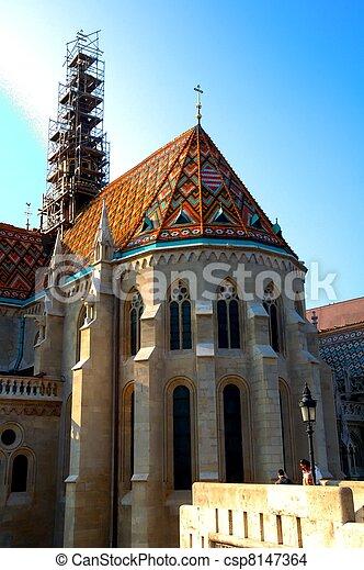 matthias church budapest, hungary - csp8147364
