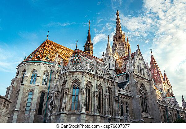 Matthias Church in Budapest, Hungary - csp76807377