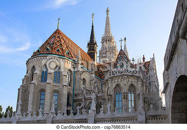 Matthias Church in Budapest, Hungary - csp76863514