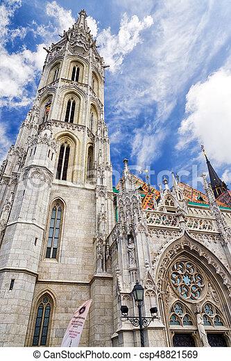Matthias Church in Budapest, Hungary - csp48821569