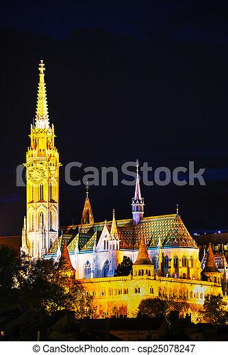 Matthias church in Budapest, Hungary - csp25078247