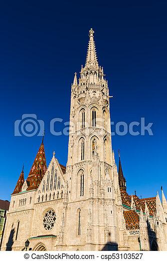 Matthias Church in Budapest Hungary - csp53103527