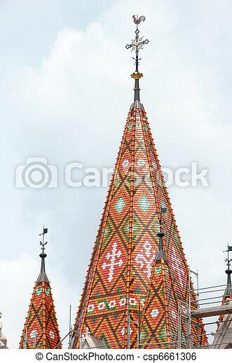 Matthias Church roof (Budapest, Hungary) - csp6661306