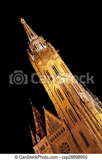 Matthias Church tower - csp28898950