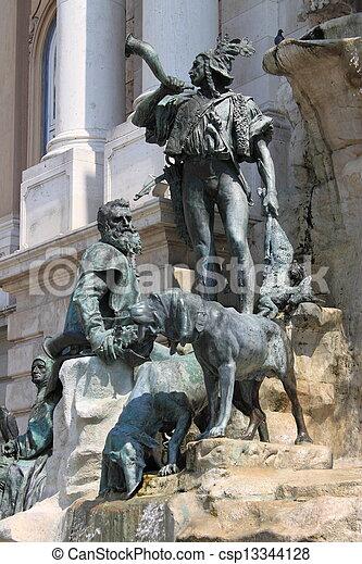 Matthias Fountain in Budapest - csp13344128