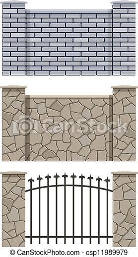 mattone, recinto pietra - csp11989979