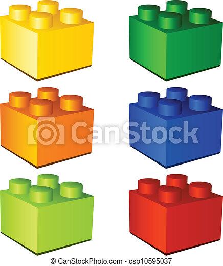 Mattoni giocattolo plastica vettore bambini 3d for Disegno 3d free