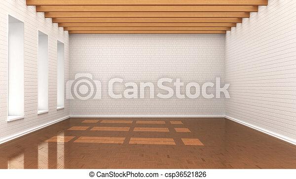 Soffitti In Legno Chiaro : Mattoni soffitto parete stanza blocchi illustrazione legno