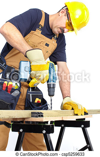 Mature contractor   - csp5259633