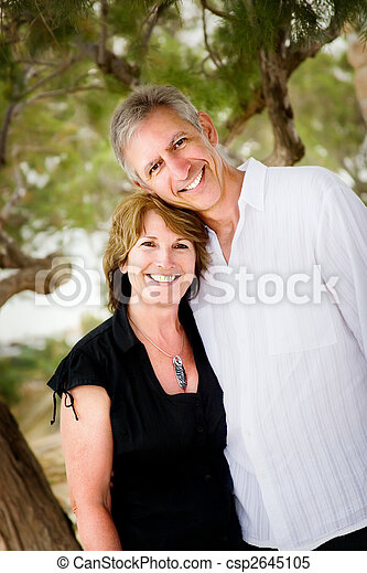 Couple Mature mature couple in love looking relaxed and happy.