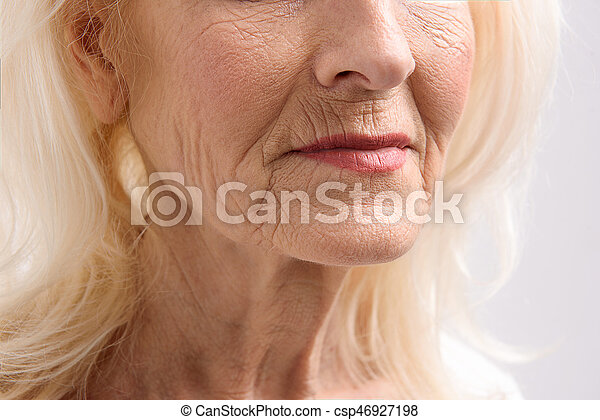 Poppy old woman mature