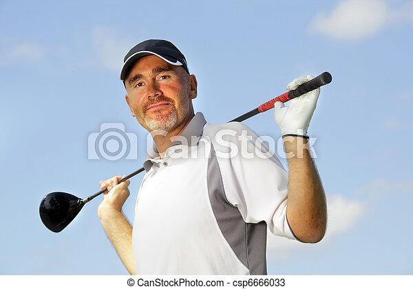 mature golf player - csp6666033