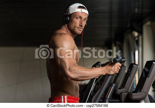 Muscular mature men