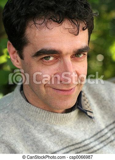 Mature man smiling - csp0066987