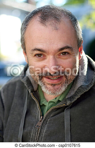 Mature man smiling - csp0107615