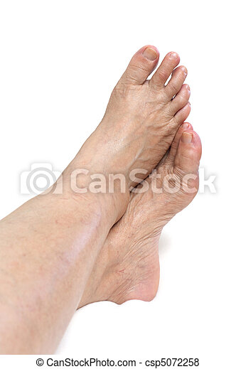 Mature woman foot - csp5072258