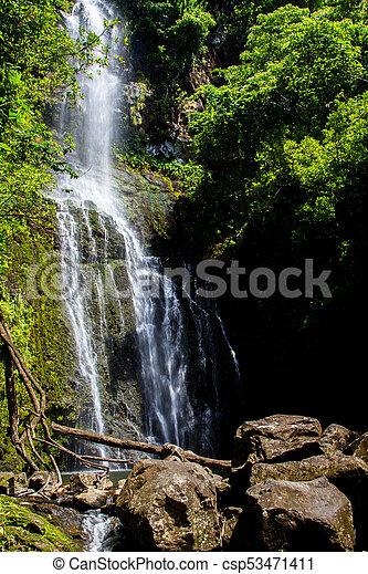 Cascada en Maui - csp53471411