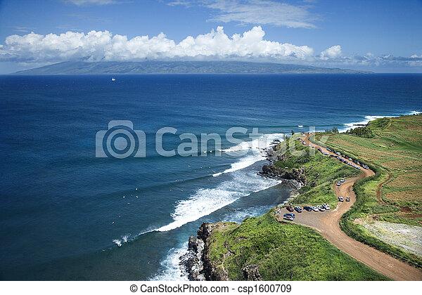 maui , coastline. - csp1600709