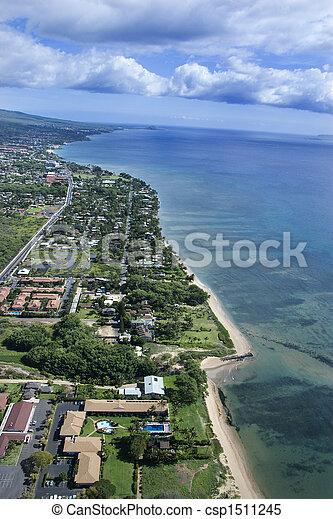 Maui coastline. - csp1511245