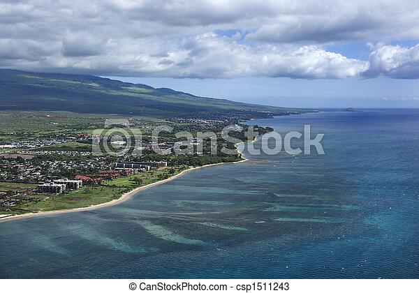 Maui coastline. - csp1511243